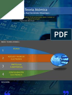 Teoría Atómica Lic Raúl Hernández Mazariegos