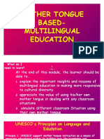 Special Topic ( Mother Tongue Based Education)