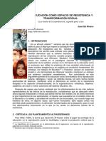 Jose Gil Rivero_La Educación Como Espacio de Resistencia y Transformación Social