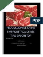 HACCP Para producción de carne de res tipo sirloin top