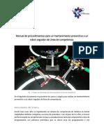 Manual de procedimientos para un mantenimiento preventivo a un robot seguidor de Línea de competencia (Autoguardado).docx