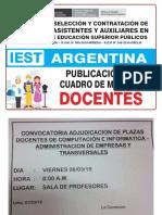 Argentina_cuadro de Merito_contrato Docente