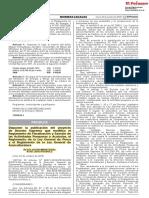 Proyecto de DS Fiscalizacion y Sancion, Reglamento Ley General de Pesca