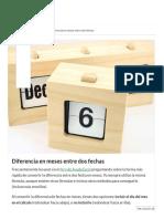 EXCEL - Diferencia en Meses Entre Dos Fechas - Ayuda Excel
