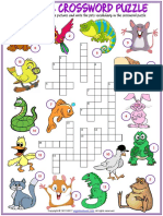 Animals Vocabulary Esl Matching Exercise Worksheets for Kids