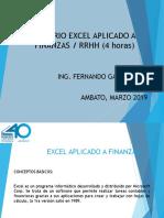 Excel Aplicado Finanzas RRHH Marzo 2019 PUDELECO
