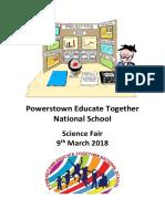science fair packet