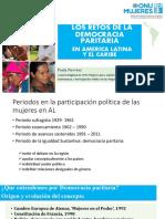 Paula Narváez - Los retos de la Democracia Paritaria en América Latina y el Caribe