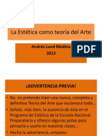 Andres Lund La Estética Como Teoría