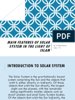Main Features of the Solar System in the Light of the HOLY QURAN