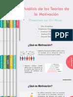 Análisis Comparativo de Las Teorías de La Motivación