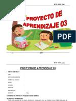 PROYECTO DE APRENDIZAJE  6°  MAYO - 2015.docx
