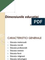 Dimensiunile educației