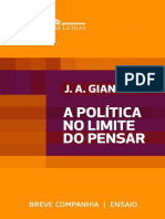 A Politica No Limite Do Pensar - Jose Arthur Giannotti