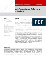 pROYECTOS DE REFORMA CONSTITUCIONAL DEL TRIBUNAL CONSTITUCIONAL