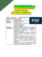 Portfólio Empresa Colheita a Pronta Entrega Whatsapp 91988309316 E-mail Portfoliouniversitario@Gmail.com