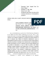 Apela Sentencia Joaquuin Arroyo Rivera.