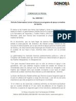 18-03-2019 Solicita Gobernadora Incluir a Sonora en Programa de Apoyo a Madres de Familia