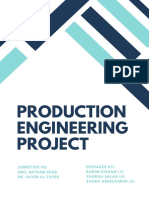 Production Engineering Project - Report