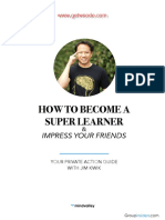 How to Become a Super Learner by Jim Kwik Workbook Nsp