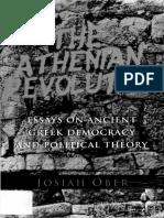 Josiah Ober - The Athenian Revolution_ Essays on Ancient Greek Democracy and Political Theory (1996, Princeton University Press).pdf