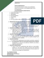 Cuestionario de Derecho Procesal Administrativo