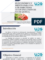 Análisis Económico y Escalamiento Para Una Planta de Embutidos Fucionales Con Inclusión de Harina de Quinua.