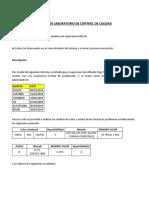 Informe de Laboratorio de Control de Calidad 21-03-19