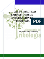 Manual de Practicas Del Laboratorio de Tribologia