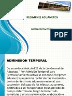 Regimenes Aduaneros - Adminision Temporal