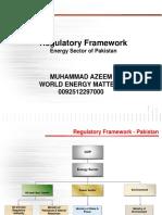 Regulatory Framework of Energy Sector in Pakistan