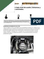 Conducción Con Bajo Nivel de Aceite _ Impacto en Motor, Frenos y Códigos Asociados