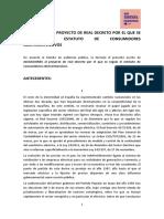Alegacións ao Proxecto de RDL Intensivas En Común