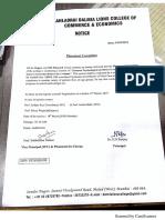 HSC Passing Certificate Notice