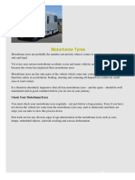 Motorhome Tyre General Guidance 2009
