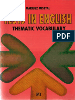 Thematic Vocabulary - Tests.pdf