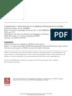 Paleoecologia y Estratigrafia de Yacimientos Preceramicos de Colombia