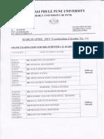 MBA Online Exam April 2019 Timetable_08.032019