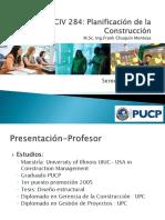 CIV284 Clase 1 - Planificación de La Construcción