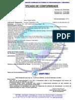 Cert Conf Rev 02 Modem SHDSL DM991SE Datacom