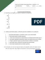 Prova Frações Equivalentes e Simplificação de Frações