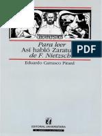 Carrasco, E Para leer Así habló Zarathustra de Nietzsche.pdf