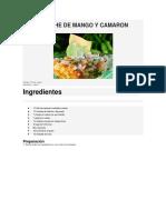 Ceviche de Mango y Camaron