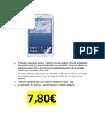 Lamina Plastico Oleofobico Samsung Tablet 8 Pulgadas