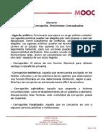 Glosario Lecci n 2 Corrupci n Precisiones Conceptuales