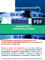 Conceptos y Consideraciones Enfoque Cuantitativo