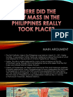 Saan nga ba naganap ang unang Misa sa Pilipinas