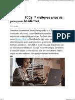 Dica Para TCCs_ 7 Melhores Sites de Pesquisa Acadêmica
