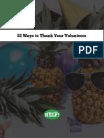52 Ways to Thank Your Volunteers