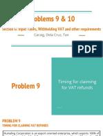 Problems 9 & 10